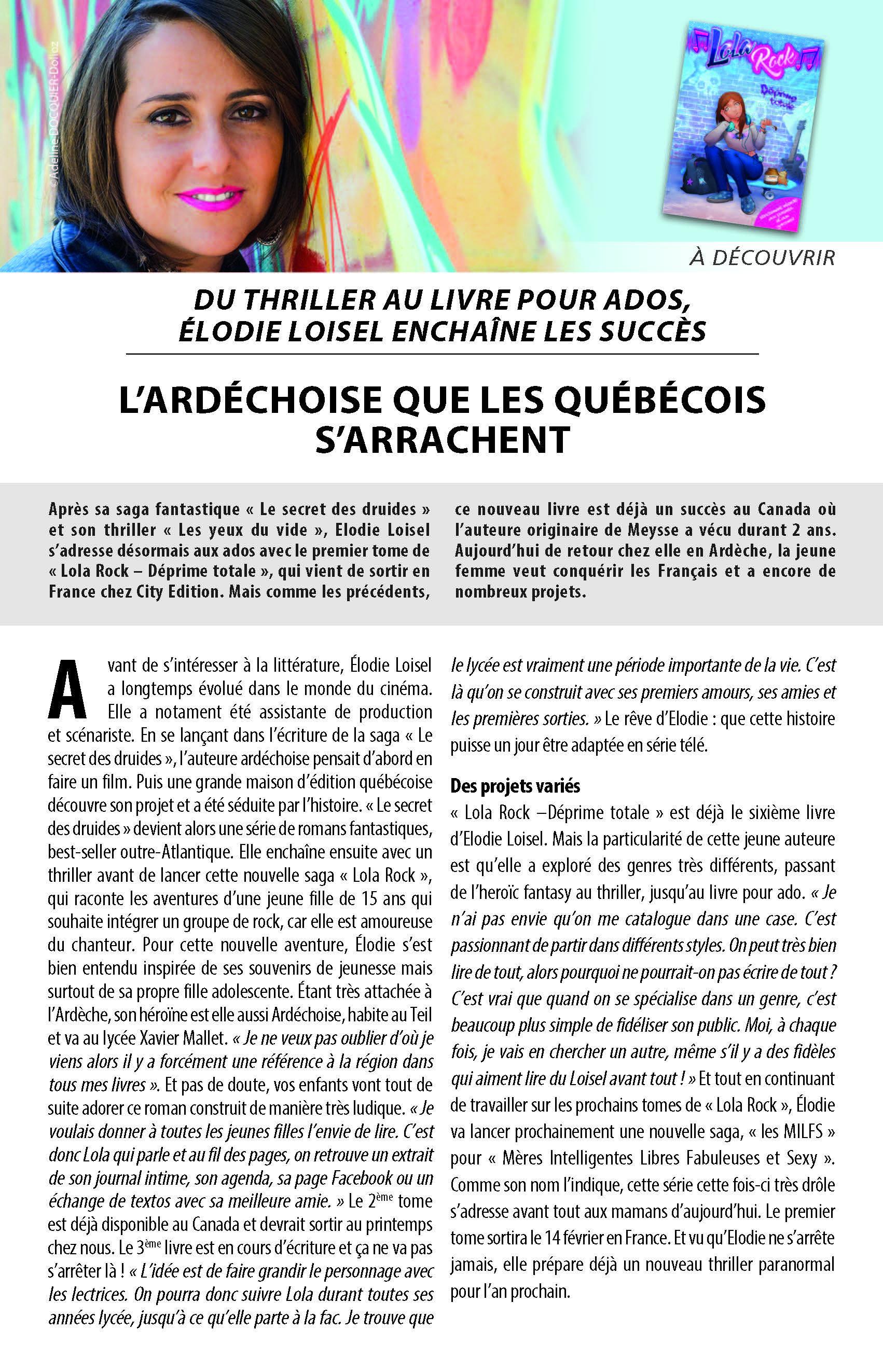 Auteur ELODIE LOISEL article Mag Lola Rock