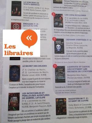 Les librairies livre le secret des druides l'héritier de Merlin Elodie Loisel auteur