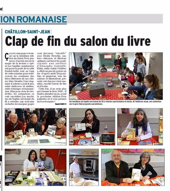 Salon du livre Chatillon St Jean auteur Elodie Loisel